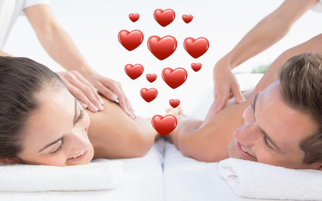 Valentijnsdag 14 februari = Duo-massagedag.